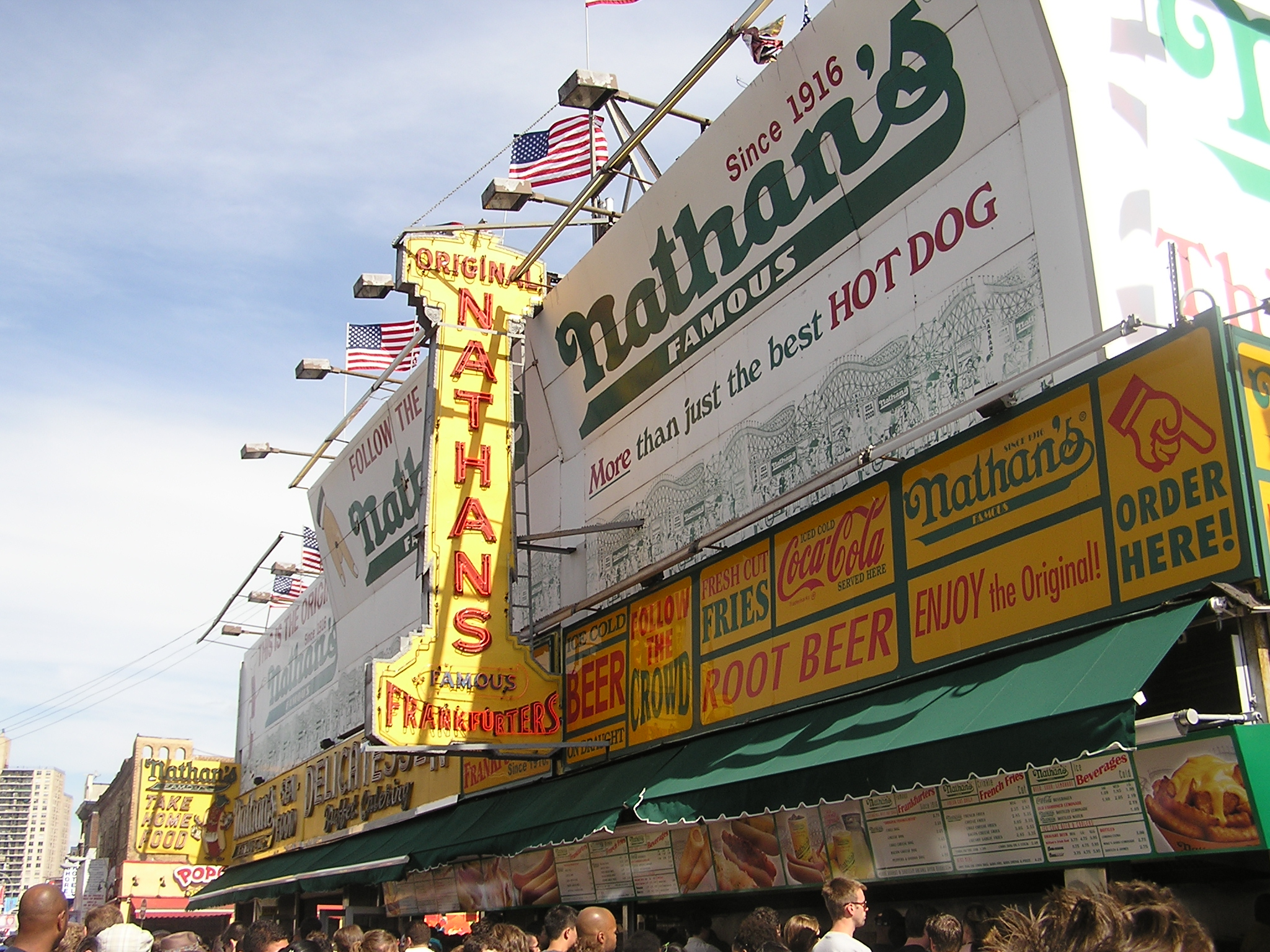 Nathan's - 1/4 mile from Keyspan Park, Brooklyn NY