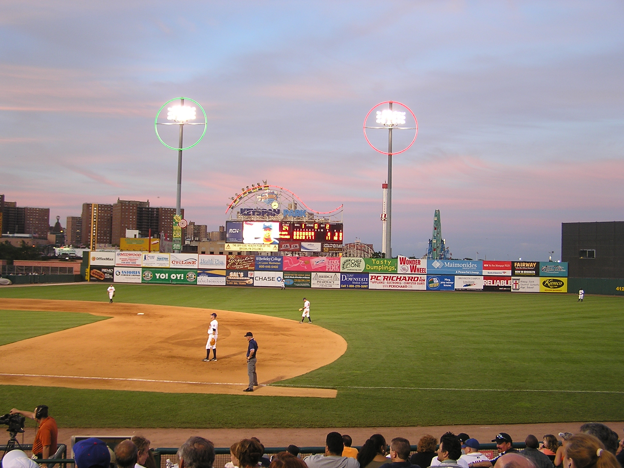 Dusk at Keyspan Park, Brooklyn NY